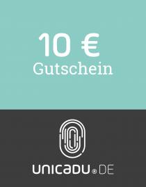 unicadu® Wertgutschein 10 Euro für einzigartige Produkte