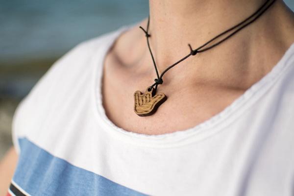 Surfer-Halskette »Hang Loose« – personalisierbar