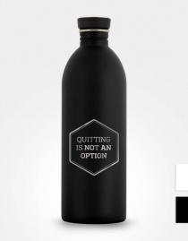 Edelstahl-Trinkflasche »Quitting Is Not An Option« – personalisierbar