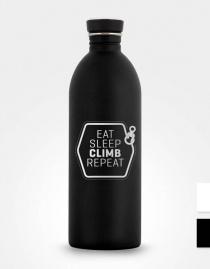 Edelstahl-Trinkflasche »Eat, Sleep, Climb, Repeat«