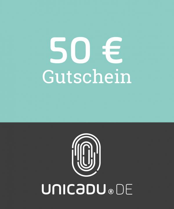 unicadu® Wertgutschein 50 Euro für einzigartige Produkte