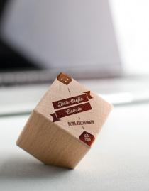 Personalisierter Holzwürfel MONUMENT »Bester Chef / Beste Chefin« mit Namen