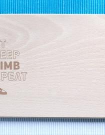 Frühstücksbrettchen »Eat, Sleep, Climb, Repeat«