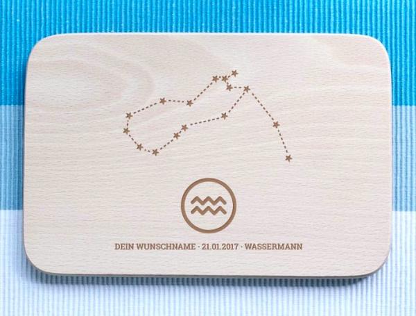 Personalisiertes Frühstücksbrettchen Wassermann