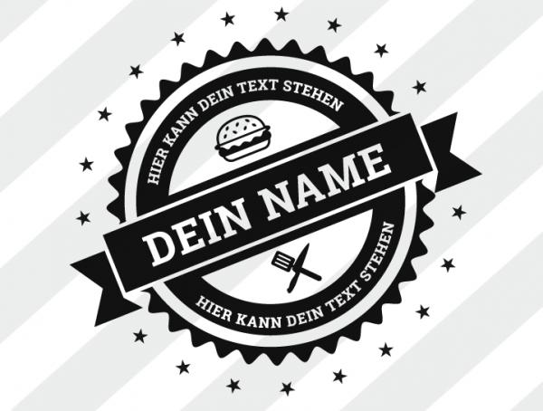 Personalisierbares Schneidebrett »My Best Burger«