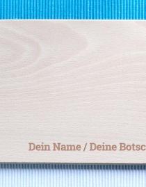 Personalisiertes Frühstücksbrettchen mit Namensgravur