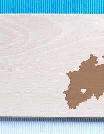 Frühstücksbrettchen »Heimat & Herz« – personalisiert mit Deinem Bundesland und Heimatstadt