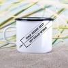 Emaille-Becher Kitesurfen »Keine Zeit - ist grad Wind« – personalisierbar