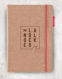 Echtleder-Notizbuch RED RUBBER »Landlocked« | A5 – personalisierbar
