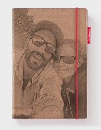 Personalisiertes Echtleder-Notizbuch RED RUBBER mit eigenem Foto