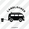 Emaille-Becher »Landlocked« – personalisierbar