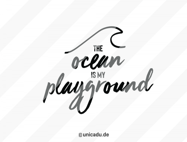 Frühstücksbrettchen Eiche »The Ocean is My Playground« – personalisierbar