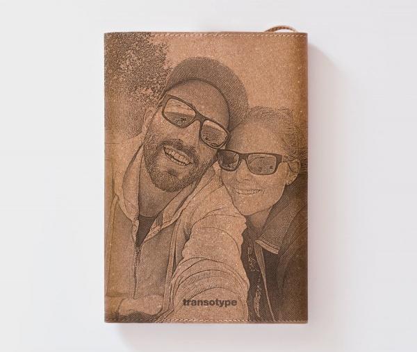 Personalisiertes Echtleder-Notizbuch FLAP mit eigenem Foto