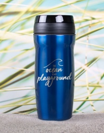 Edelstahl-Thermobecher »The Ocean Is My Playground« – personalisierbar