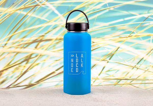 Edelstahl-Thermosflasche »Landlocked« – personalisierbar