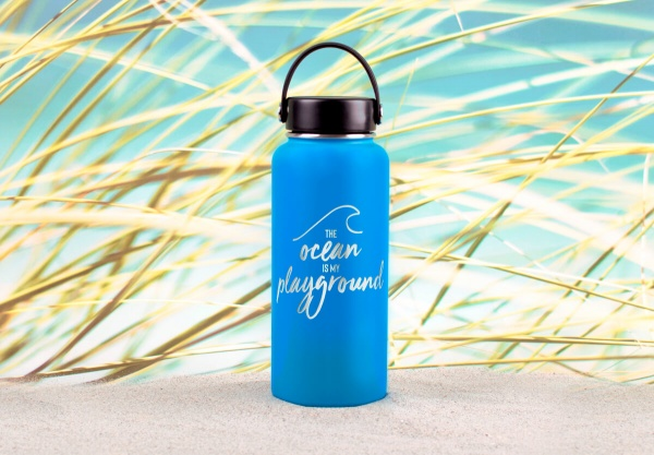 Edelstahl-Thermosflasche »The Ocean Is My Playground« – personalisierbar